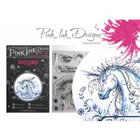 Pink Ink Desings: Set Unicorn, A5 Stamp, to Design by 3D Scene!