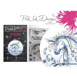 CREATIVE EXPRESSIONS und COUTURE CREATIONS Diseños de tinta rosada: ¡Establecer unicornio, sello A5, para el diseño de 3D Scene!