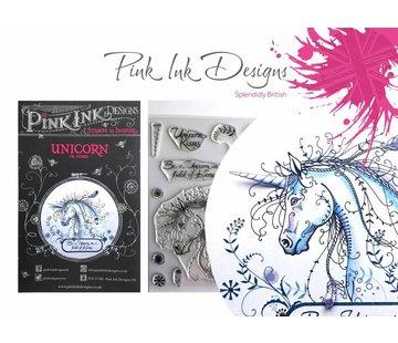 CREATIVE EXPRESSIONS und COUTURE CREATIONS Pink Ink Desings: Set Unicorn, A5 Stamp, conçu par 3D Scene!