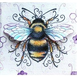 CREATIVE EXPRESSIONS und COUTURE CREATIONS Diseños de tinta rosada: coloque la abeja, el sello A5, para diseñar la escena 3D!