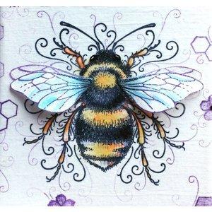 CREATIVE EXPRESSIONS und COUTURE CREATIONS Pink Ink Desings: Set Biene,  Stempel A5, zur Gestaltung von 3D Scene!
