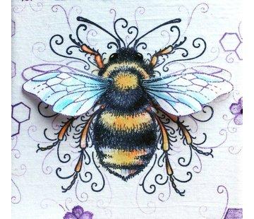 CREATIVE EXPRESSIONS und COUTURE CREATIONS Pink Ink Desings: Set bee, stamp A5, pour concevoir une scène 3D!
