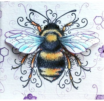 CREATIVE EXPRESSIONS und COUTURE CREATIONS Pink Ink Desings: Set bee, stamp A5, to design 3D Scene!