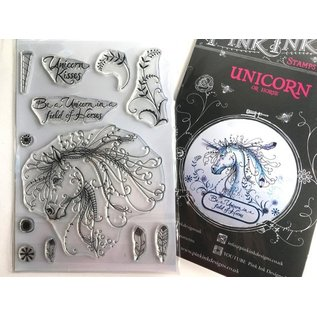 CREATIVE EXPRESSIONS und COUTURE CREATIONS Pink Ink Desings: Set Unicorn, A5 Stamp, to Design by 3D Scene!
