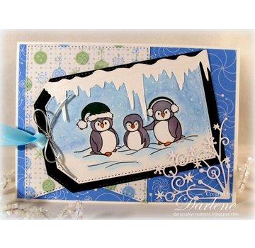 Precious Marieke Ponsen en embossing sjablonen: ijspegels