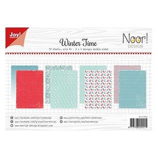 Joy!Crafts / Jeanine´s Art, Hobby Solutions Dies /  A4-papierset: wintertijd, 200 gram
