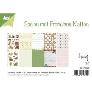 Joy!Crafts / Jeanine´s Art, Hobby Solutions Dies /  A4 Papier SET: Katzenmotive und Hintergrund Papier