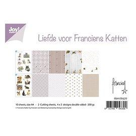 Joy!Crafts / Jeanine´s Art, Hobby Solutions Dies /  A4 papier SET: motifs de chat et papier de fond