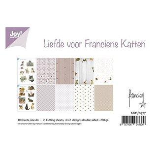 Joy!Crafts / Jeanine´s Art, Hobby Solutions Dies /  Set A4 di carta: motivi di gatto e carta di sfondo