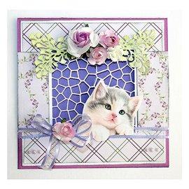 Joy!Crafts / Jeanine´s Art, Hobby Solutions Dies /  SET A4 papel: motivos gato y papel de fondo.