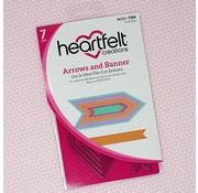 Heartfelt Creations aus USA Modèles de poinçonnage: flèches et bannières