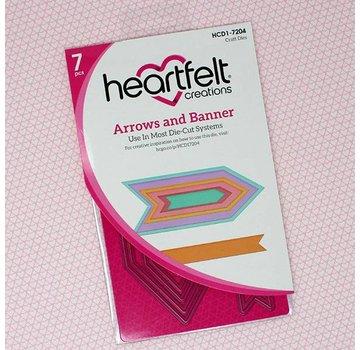 Heartfelt Creations aus USA Modelli di punzonatura: frecce e banner