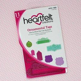 Heartfelt Creations aus USA Stencil di punzonatura: tag ornamentali