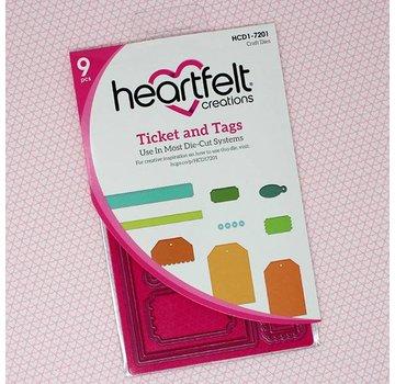 Heartfelt Creations aus USA Modelli di punzonatura: ticket e tag