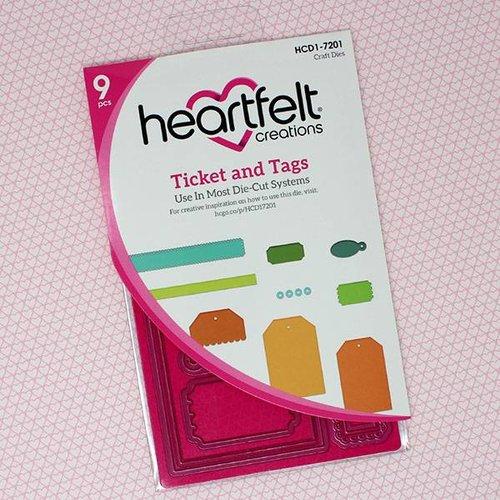 Heartfelt Creations aus USA Snijsjablonen: Ticket und Tags