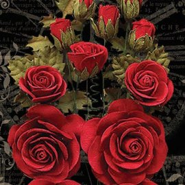 GRAPHIC 45 Grafica 45 fiori rossi trionfanti