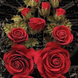 GRAPHIC 45 Grafico 45 flores rojas triunfantes