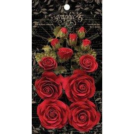 GRAPHIC 45 Grafisk 45 Triumferende Røde Blomster
