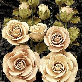 GRAPHIC 45 Gráfico 45 Clásico Marfil y Flores de Lino Natural