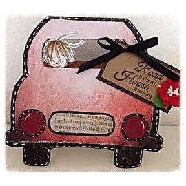 Dutch DooBaDoo Modello di arte per la progettazione di carte sotto forma di una macchina