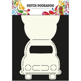 Dutch DooBaDoo Art template for designing cards in the form of a car