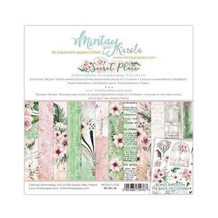 """Karten und Scrapbooking Papier, Papier blöcke BRAND NEW! Luxe papierblok, """"Secret Place"""" 15,2 x 15,2 cm"""