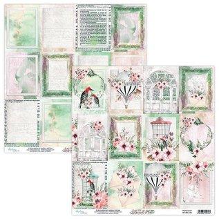 "Karten und Scrapbooking Papier, Papier blöcke NUOVO! Blocco di carta di lusso, ""Secret Place"" 15,2 x 15,2 cm"