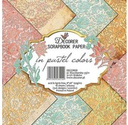decorer Kort og Scrapbog Papirblok, Dekorerer i Pastelfarver, 20x20 cm