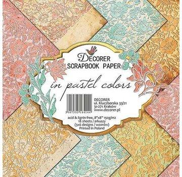 decorer Blocco carta e scrapbook, decoratore in colori pastello, 20x20 cm