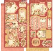 GRAPHIC 45 Grafico 45: Adesivi principessa, tag e tasche