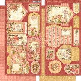 GRAPHIC 45 Gráfico 45: Pegatinas Princesa, Etiquetas y Bolsillos