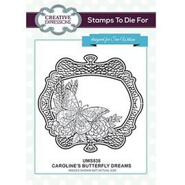 CREATIVE EXPRESSIONS und COUTURE CREATIONS Timbre en caoutchouc: Les rêves de papillon de Caroline