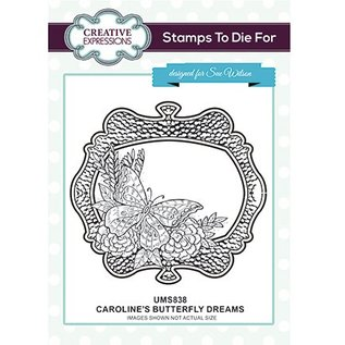 CREATIVE EXPRESSIONS und COUTURE CREATIONS Rubberstempel: Caroline's Butterfly Dreams
