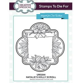 CREATIVE EXPRESSIONS und COUTURE CREATIONS Gummistempel: Natalies Holly Scroll