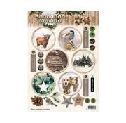 Bilder, 3D Bilder und ausgestanzte Teile usw... Bilder, Winter Motive, für Basteln mit Papier, Scrapbook, karten gestalten,