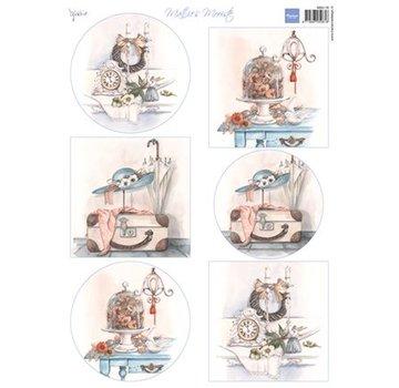Marianne Design Billedark A4 Matties fineste: Brocante