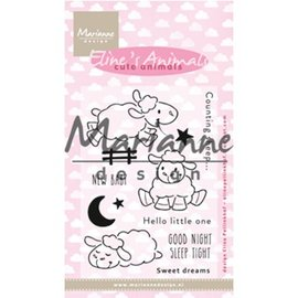 Marianne Design Stamp motif, banner: Baby, Eline's Cute Animals - Sheep