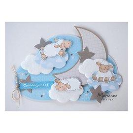 Marianne Design Motif estampé, bannière: Bébé, Animaux mignons d'Eline - Moutons
