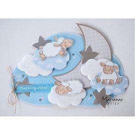 Dutch DooBaDoo Maschera di plastica: nuvole