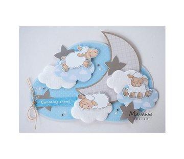 Dutch DooBaDoo Plastic mask: clouds