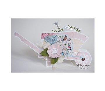 Dutch DooBaDoo Plastic template: wheelbarrow
