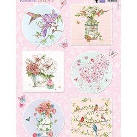 Marianne Design Imágenes, Sueños románticos - Rosa, papel maché, libro de recuerdos, diseño de tarjetas