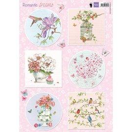 Marianne Design Billeder, Romantiske drømme - Pink, Paper mache, Scrapbog, kort design