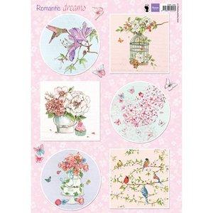 Marianne Design Plaatjes, romantische dromen - roze, papier-maché, plakboek, kaartenontwerp