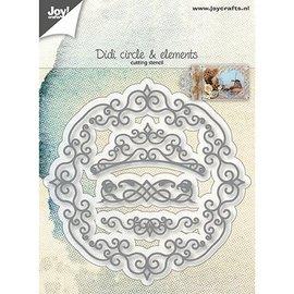 Joy!Crafts / Jeanine´s Art, Hobby Solutions Dies /  Skære skabeloner: dekorative rammer og hvirvler