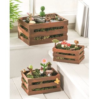 BASTELSETS / CRAFT KITS Mini-tuinset, Polyresin. Te ontwerpen in plantenbakken als tuin- en balkondecoratie!