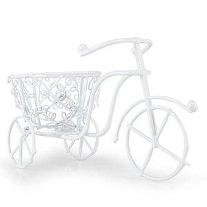 BASTELSETS / CRAFT KITS Mini garden, bicycle handmade wire, 10 x 7 cm, white