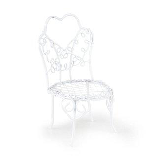 BASTELSETS / CRAFT KITS Mini Garden, Vintage Style, chair handmade wire, D = 6 x 10 cm, white¸