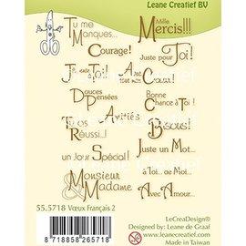 Leane Creatief - Lea'bilities und By Lene Stempel, Transparent, Voeux / Texte Français,  Leane Creatief