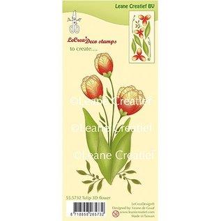 Leane Creatief - Lea'bilities und By Lene 3D stamp tulip of Leane Creatief